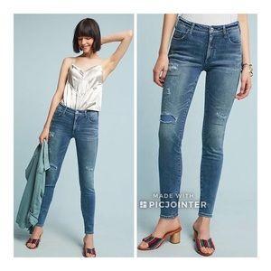 Pilcro High-Rise Skinny Ankle Jean 32 Medium Blue